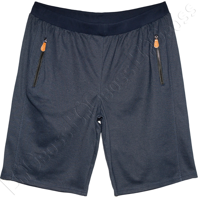 Трикотажные шорты тёмно синего цвета Big Team 0