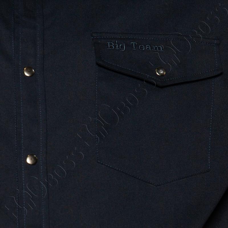 Весенний костюм (коттон) тёмно синего цвета Big Team  3