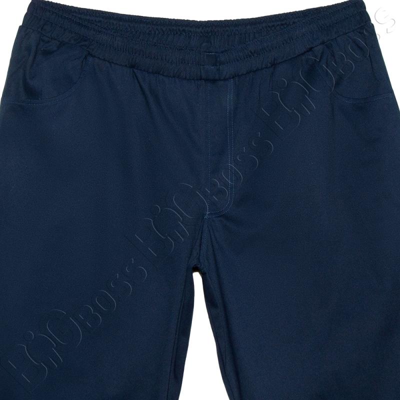 Весенний костюм (коттон) тёмно синего цвета Big Team  5