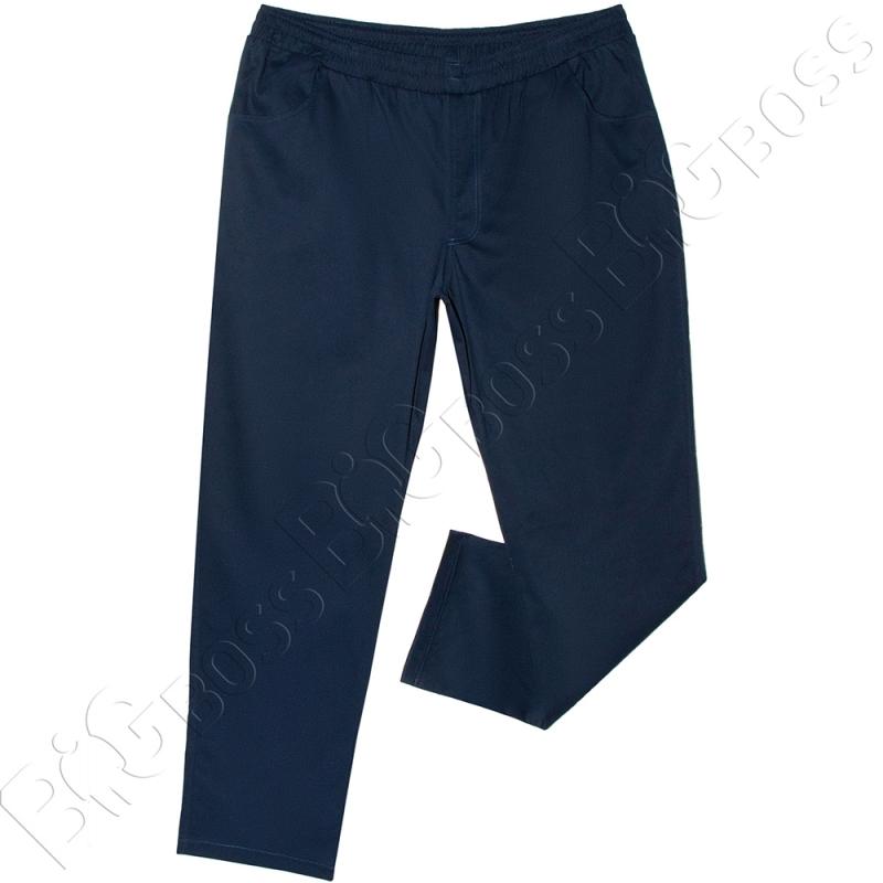 Весенние штаны на резинке тёмно синего цвета Big Team  0