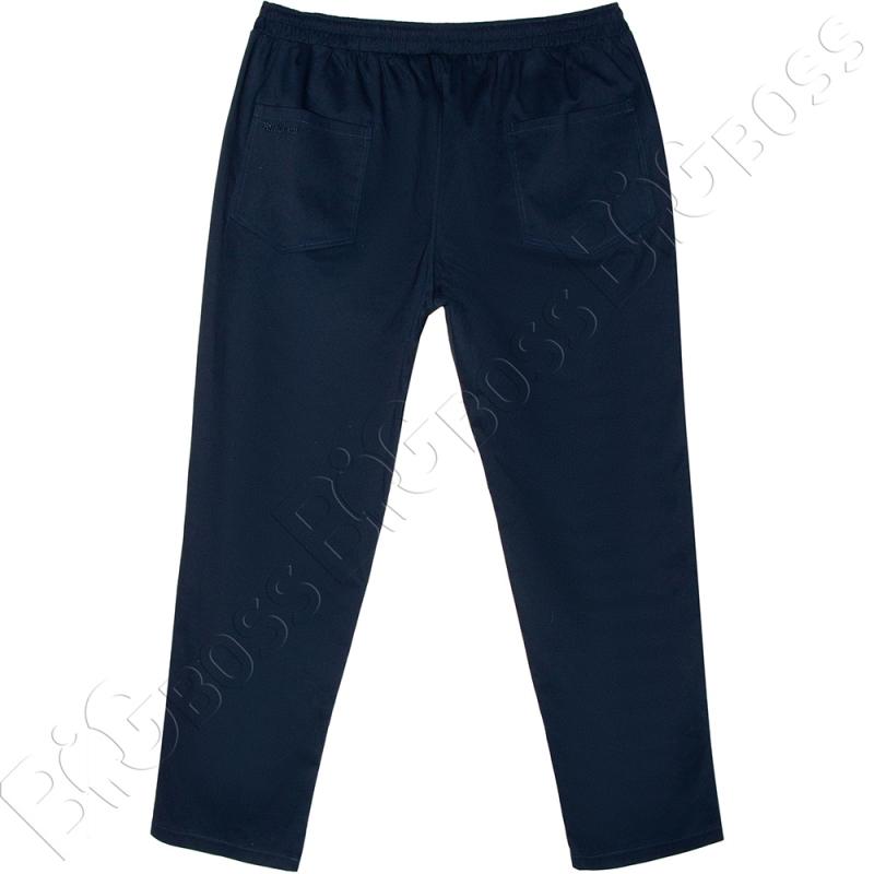 Весенние штаны на резинке тёмно синего цвета Big Team  3