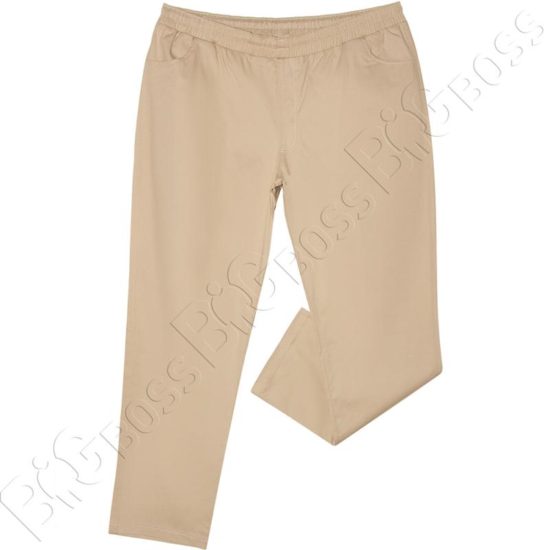 Весенние штаны на резинке песочного цвета Big Team  0