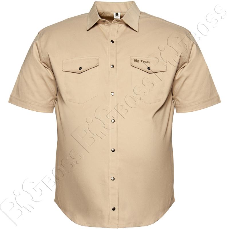 Коттоновая рубашка на кнопках Big Team 0