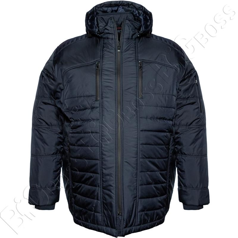 Зимняя куртка прямого кроя тёмно синего цвета Olser 0