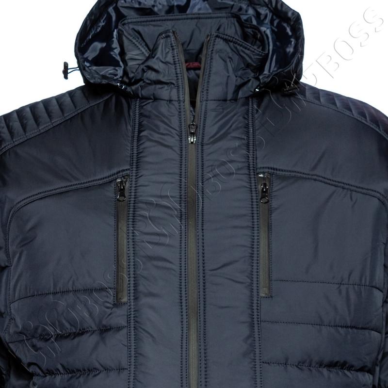 Зимняя куртка прямого кроя тёмно синего цвета Olser 1