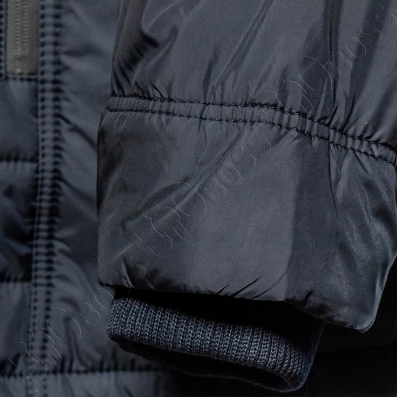Зимняя куртка прямого кроя тёмно синего цвета Olser 4