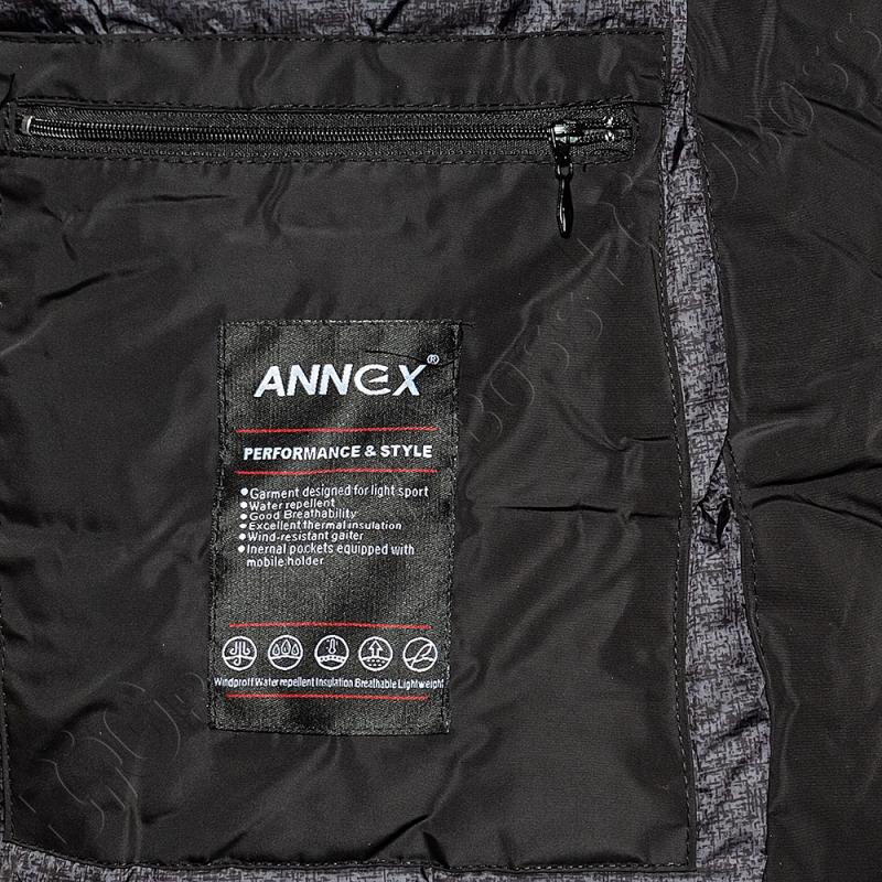 Зимняя куртка прямого кроя чёрного цвета Annex 4