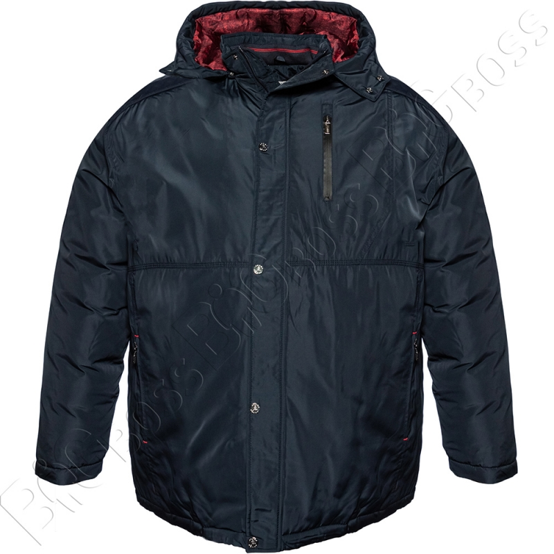 Зимняя куртка прямого кроя тёмно синего цвета Annex 0