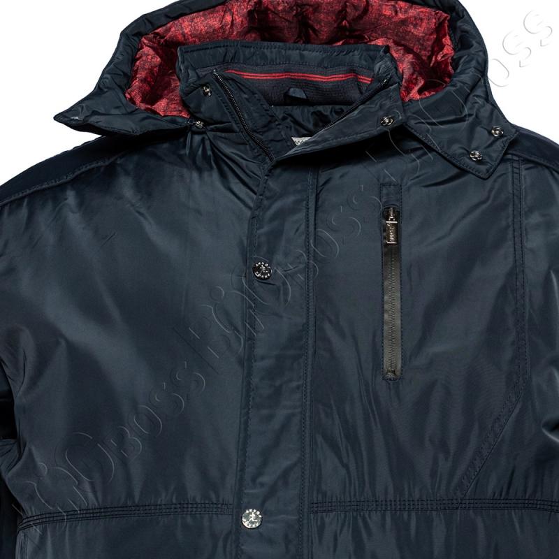 Зимняя куртка прямого кроя тёмно синего цвета Annex 1