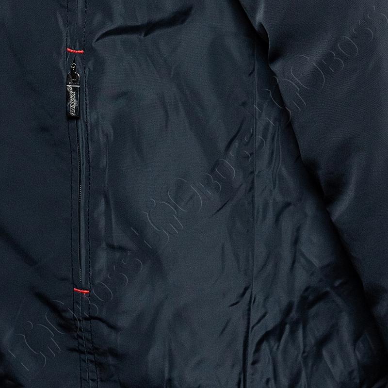 Зимняя куртка прямого кроя тёмно синего цвета Annex 3