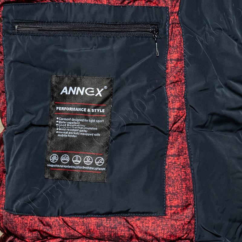 Зимняя куртка прямого кроя тёмно синего цвета Annex 5