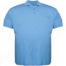 Поло голубого цвета Borcan Club