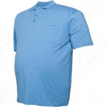 Поло голубого цвета Borcan Club 1