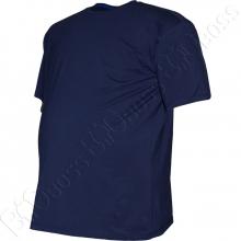 Футболка однотонная тёмно синего цвета Big Team 1