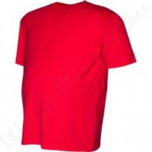 Футболка однотонная красного цвета Big Team 1