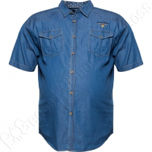Джинсовая рубашка короткий рукав IFC