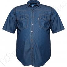 Джинсовая рубашка короткий рукав Dekons
