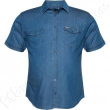 Джинсовая рубашка короткий рукав Divest