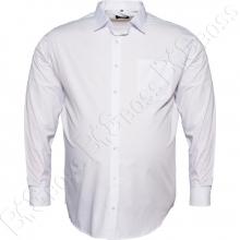 Рубашка белая однотонная Big Team