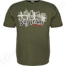 Футболка цвета хаки Big Team