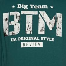 Футболка зелёного цвета 6-9XL Big Team 1