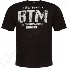 Футболка чёрного цвета 6-9XL Big Team
