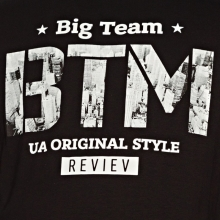 Футболка чёрного цвета 6-9XL Big Team 1