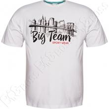 Футболка белого цвета 6-9XL Big Team