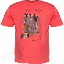 Футболка розового цвета Polo Pepe
