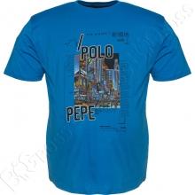 Футболка синего цвета Polo Pepe