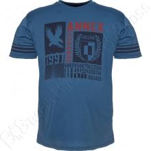 Футболка синего цвета Annex