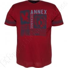 Футболка бордового цвета Annex