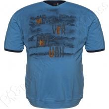 Футболка синего цвета на манжете Miele