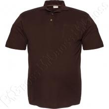 Поло лакоста коричневого цвета Big Team