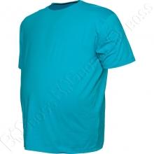 Футболка однотонная голубого цвета Big Team 1