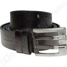 Кожаный ремень чёрного цвета Dekons