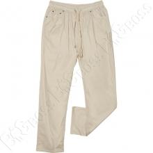 Летние хлопковые штаны бежевого цвета Miele