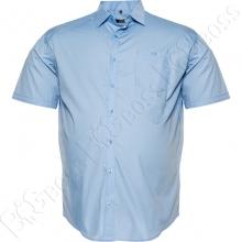 Рубашка короткий рукав голубого цвета Big Team