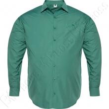 Рубашка однотонная изумрудного цвета Big Team