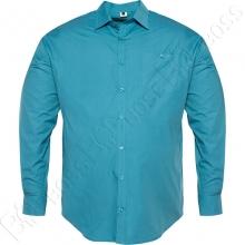 Рубашка однотонная бирюзового цвета Big Team