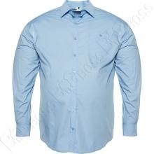 Рубашка однотонная голубого цвета Big Team