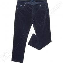 Вельветовые штаны тёмно синего цвета Dekons