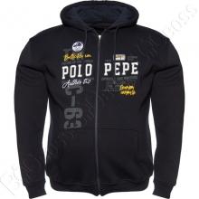 Тёплая толстовка тёмно синего цвета Polo Pepe