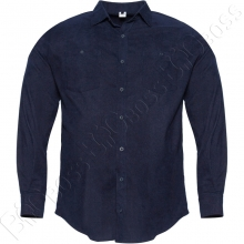 Рубашка вельветовая тёмно синего цвета Big Team