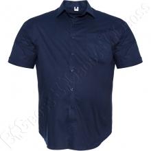Рубашка тёмно синего цвета (100% ХБ) Big Team