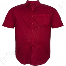 Рубашка бордового цвета (100% ХБ) Big Team