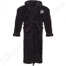 Махровый халат тёмно серого цвета Big Team