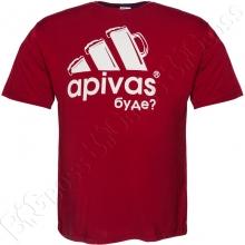 Футболка бордового цвета Big Team
