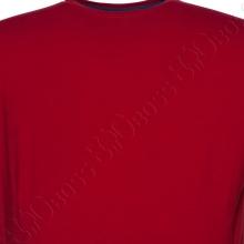 Футболка однотонная бордового цвета (2) Big Team 1