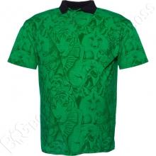 Поло лакоста зелёного цвета Big Team